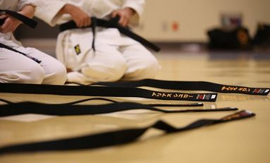 Karate Gürtel bei Wettkämpfen